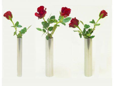 Blumenvasen aus Edelstahl