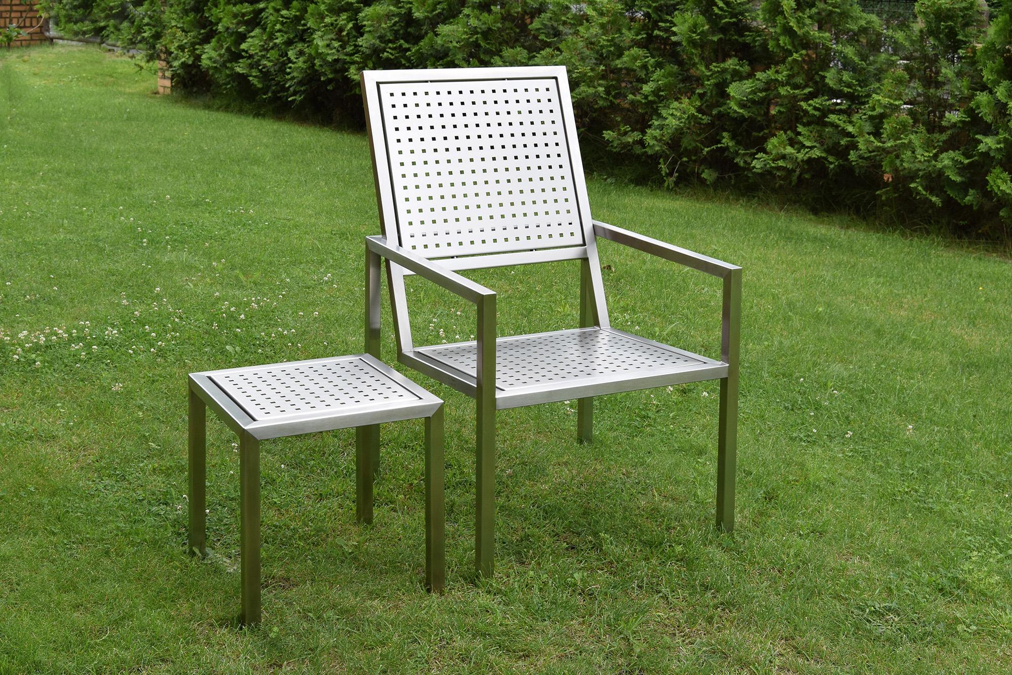 sessel f r rasen terrasse wintergarten balkon gartenmoebel. Black Bedroom Furniture Sets. Home Design Ideas