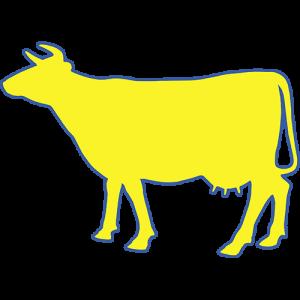 Gelbe Kuh-Gartenmoebel-NRW