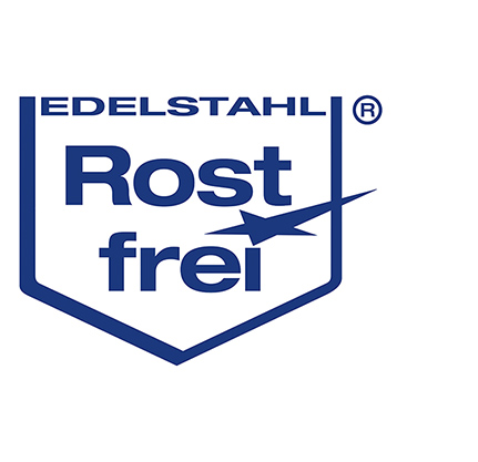 Rostfreier Edelstahl Logo